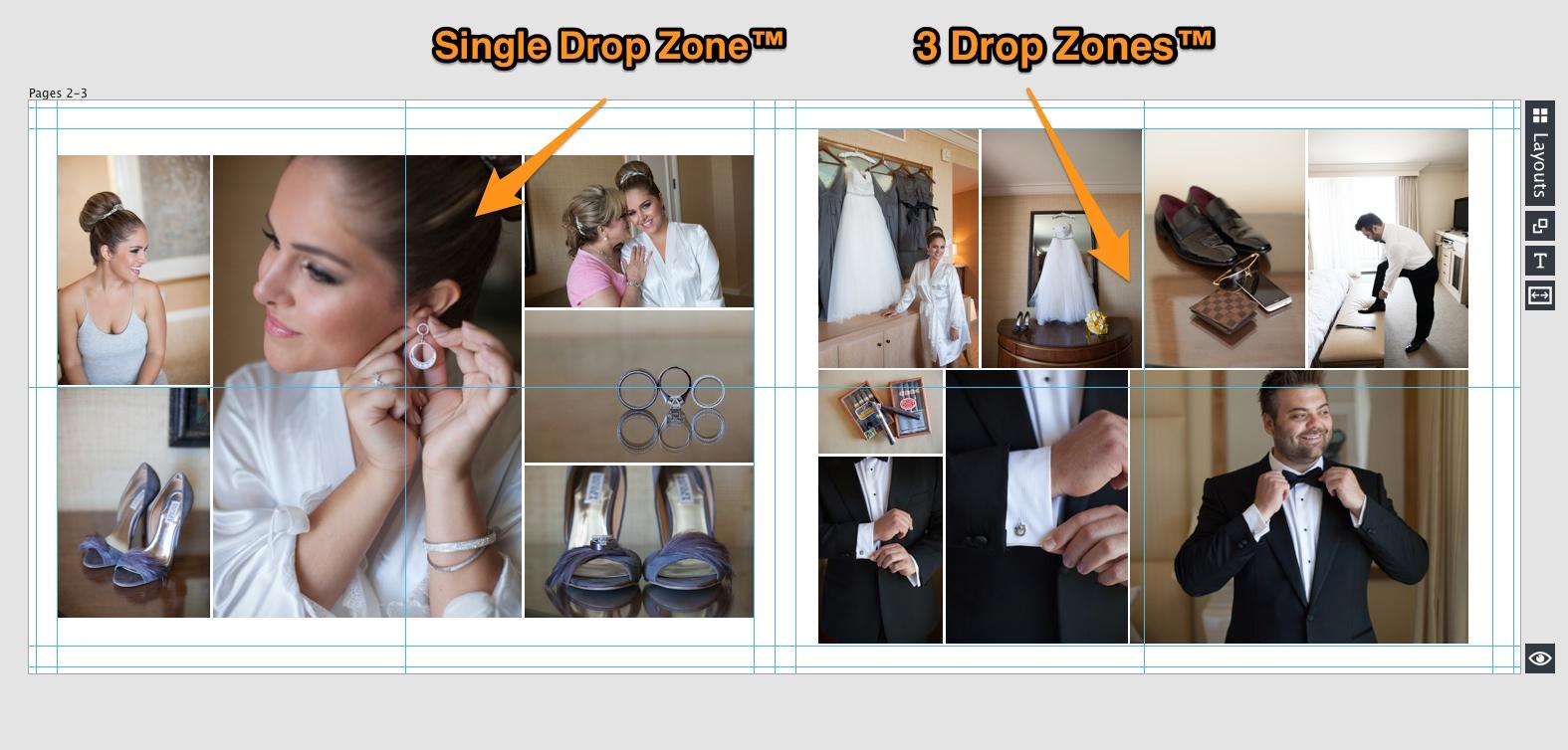 drop zones