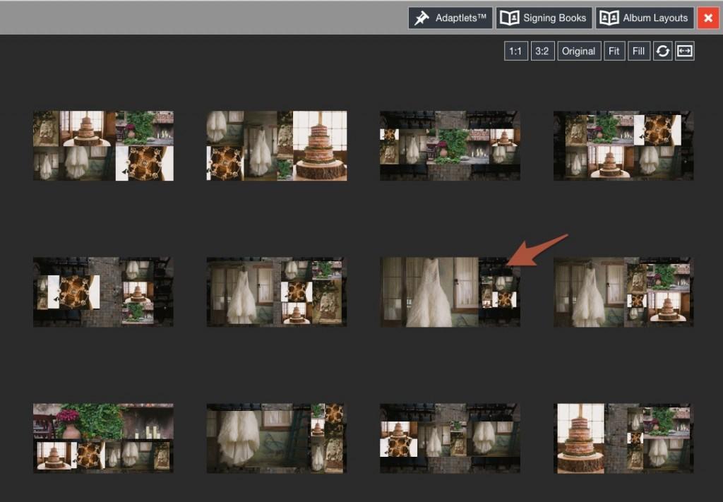 quick design picker background image