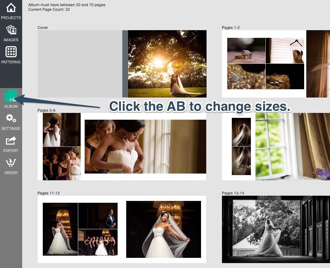 AB change sizes